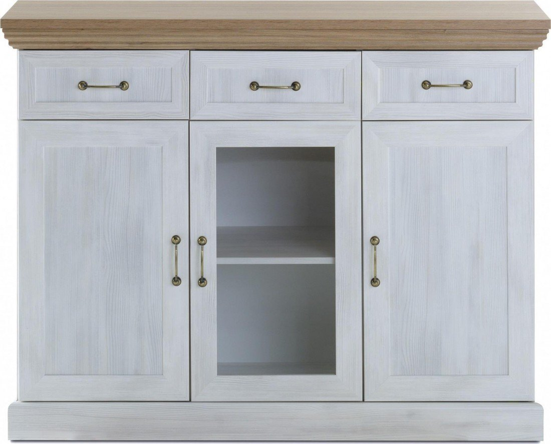 Devonshire Sideboard Cabinet Storage Unit with 3 Doors 3 Drawers ...