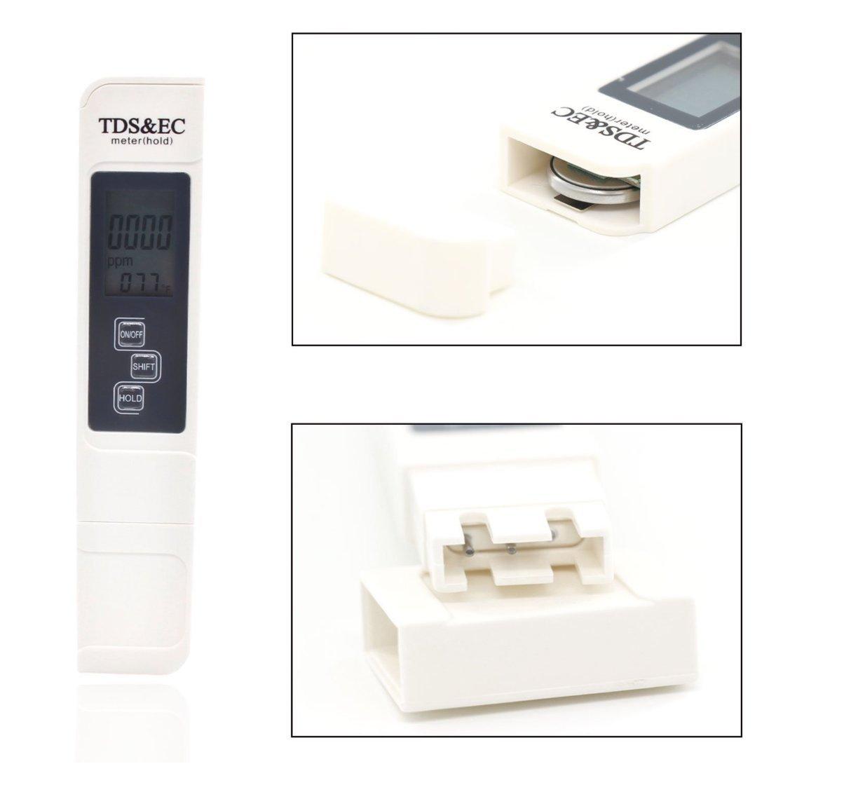 Tester de agua TDS PH EC Temperatura 3 en 1 Set: Amazon.es ...