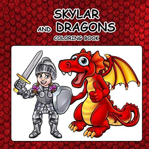Skylar and Dragons Coloring - Skylar Dragon