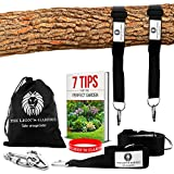 The Lion's Garden Premium Tree Swing Hanging Kit. Adjustable Tree Swing Straps For Any Length From 5-10 Foot Holds 3376 lbs With 2 Heavy Duty Carabiners and  Bracelet.