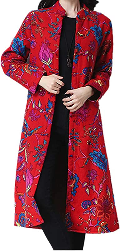 Chic Mens Chinese Velvet Lined Thicken Coat Warm Jacket Plus Casual Stand Collar