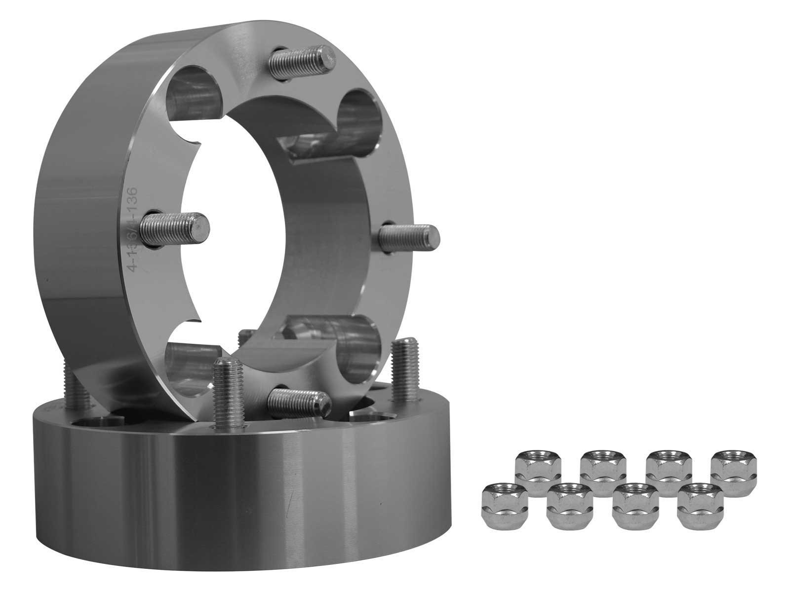 SuperATV 2'' Aluminum Heavy Duty Wheel Spacers for Honda 300-400EX/450R (All Years) - 4/144 Bolt Pattern - Pair - Fits FRONT ONLY