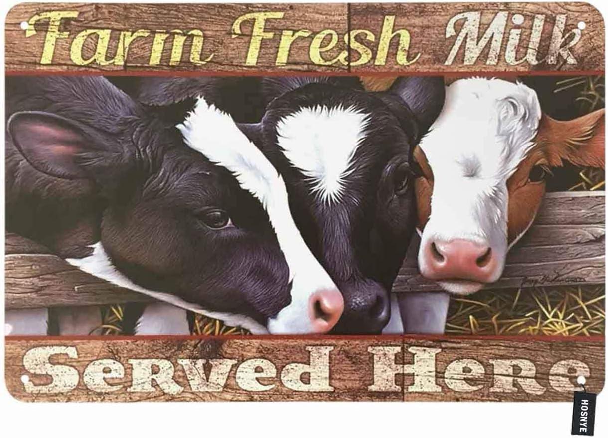 "Healthy Farm Fresh Milk 31/"" Tin Sign"
