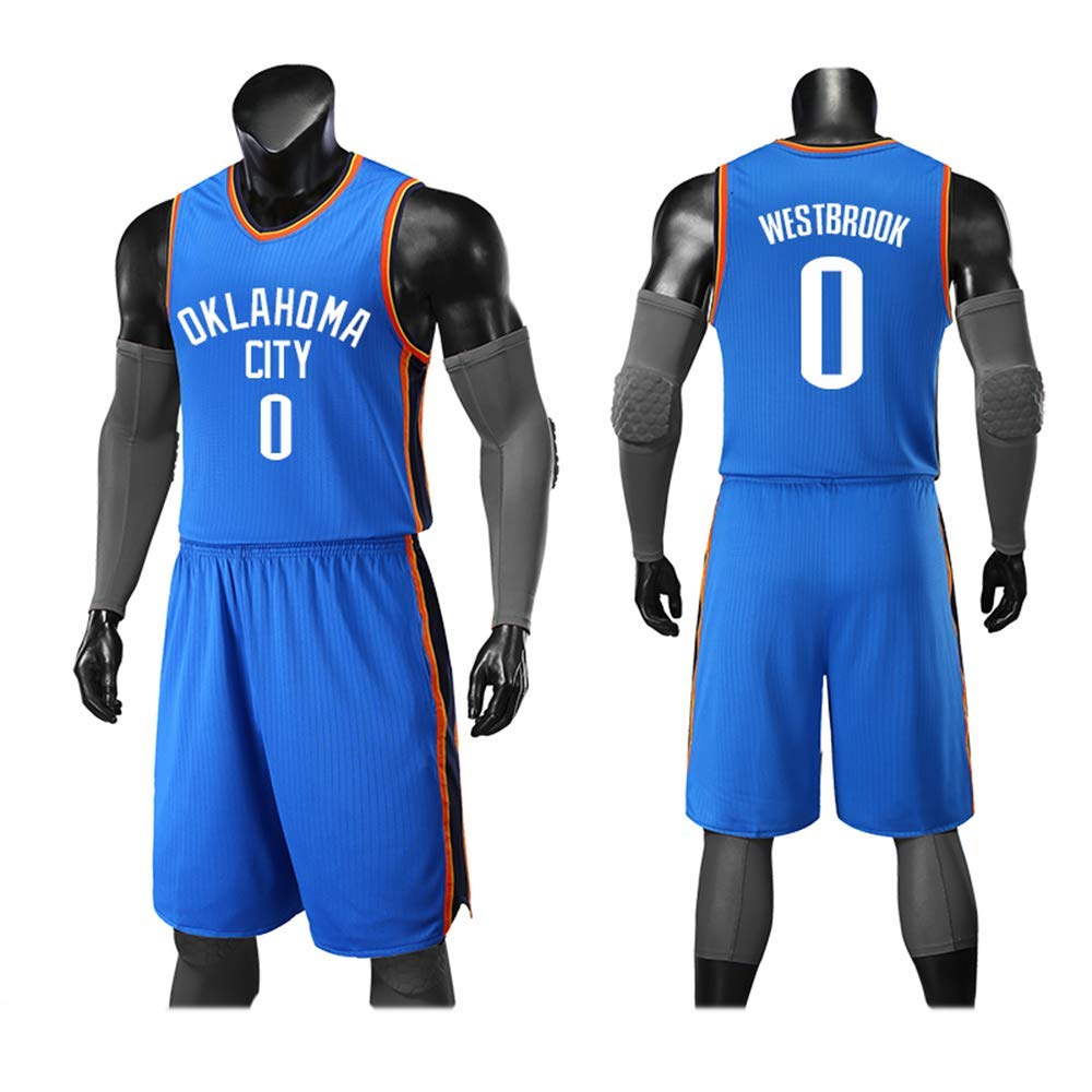 Oklahoma City Thunder 0 WSSW Sport-Jerseys Basketball-Uniform Basketball-Jersey Aus Neuem Stoff Neue Urbane Version des Trikots