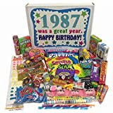 1987 30th Birthday Gift Basket Box Retro Nostalgic Candy From Childhood