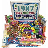 30th Birthday Gift Basket Box of Retro Nostalgic Candy from Childhood for Men and Women- 30 Years Old - Born 1987