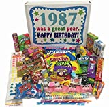 30th Birthday Gift Basket Box Of Retro Nostalgic Candy From Childhood For Men And Women