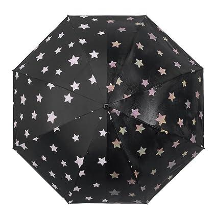 6fd8841e9794 Ai-life Water Color Changing Umbrella (Stars), Portable Compact Folding  Black Umbrella Windproof Waterproof Anti-UV Protection Dual Use Umbrella,  ...