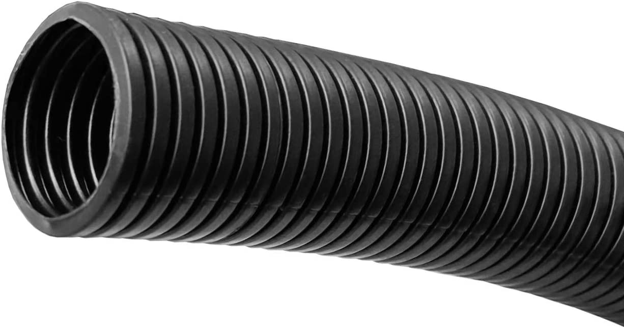 25ft Black Non-Split Tubing 3//8 MGI SpeedWare Corrugated Cable Conduit
