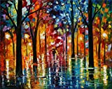 100% Hand Painted Oil Paintings Modern Abstract Arts Reproductions Home Decor Avenue Oil Painting on Canvas (20X25 Inch, Arts 6)