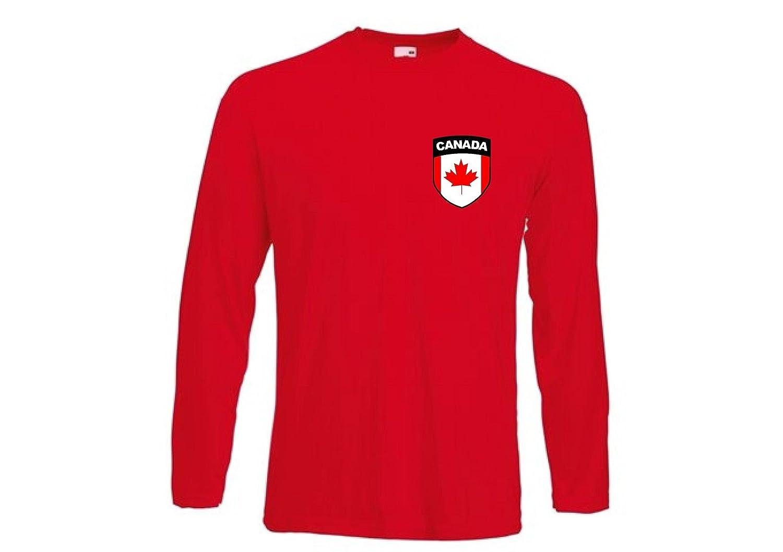 Amazon.com : Camiseta Hombre Canada F?tbol Hockey Hielo Manga Larga - Todas Las Tallas : Sports & Outdoors