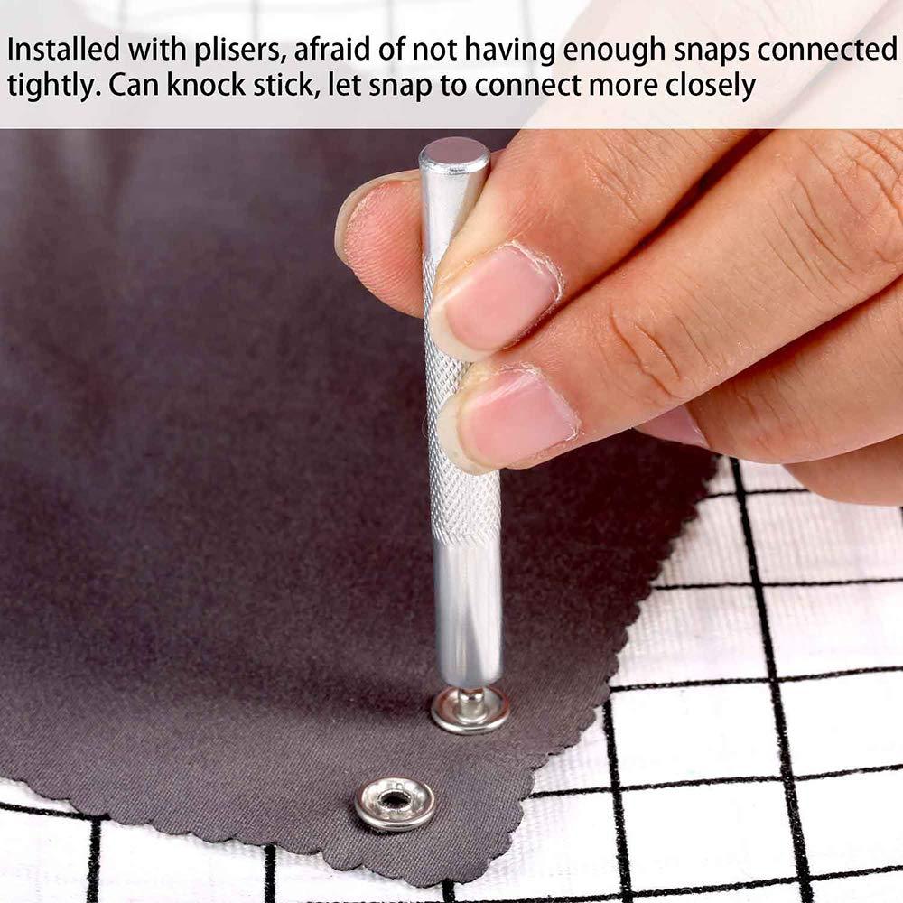 Ou pour Ajouter des Boutons Fonctionnels Boutons /à Coudre 200 Ensembles de Boutons en Laiton Massif et Creux avec Deux Pinces /à Outils pour R/éparer des V/êtements ou des Pantalons