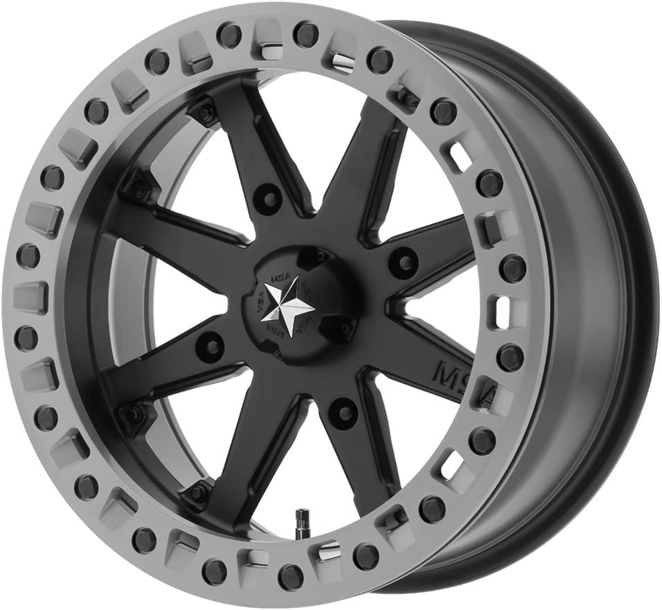 MSA OFFROAD WHEELS M31 LOK2 Satin Black Matte Gray Ring Wheel Chromium 14 x 10. inches //4 x 112 mm, 0 mm Offset hexavalent compounds