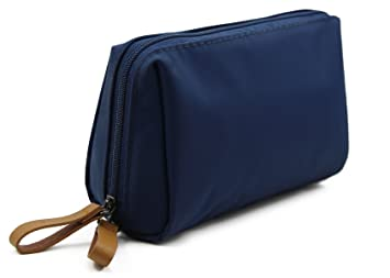 c541c05ad0b Womens Travel Cosmetic Bags Small Handy Makeup Pouch Kit for Ladies Girls -  navy blue
