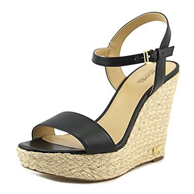 9bb4c70840b Michael Kors Jill Wedge Sandals Women s Sandals   Flip Flops Black Size ...