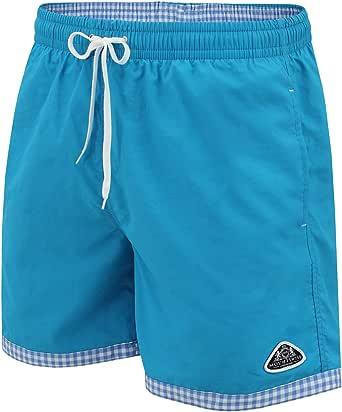 Mount Swiss Hoogwaardige zwembroek voor heren en jongens, met zonbescherming, moderne zwemshorts voor mannen, in heldere kleuren, maat S - 6XL, stijlvolle herenshorts, zwemmen, vrije tijd, watersport, strand