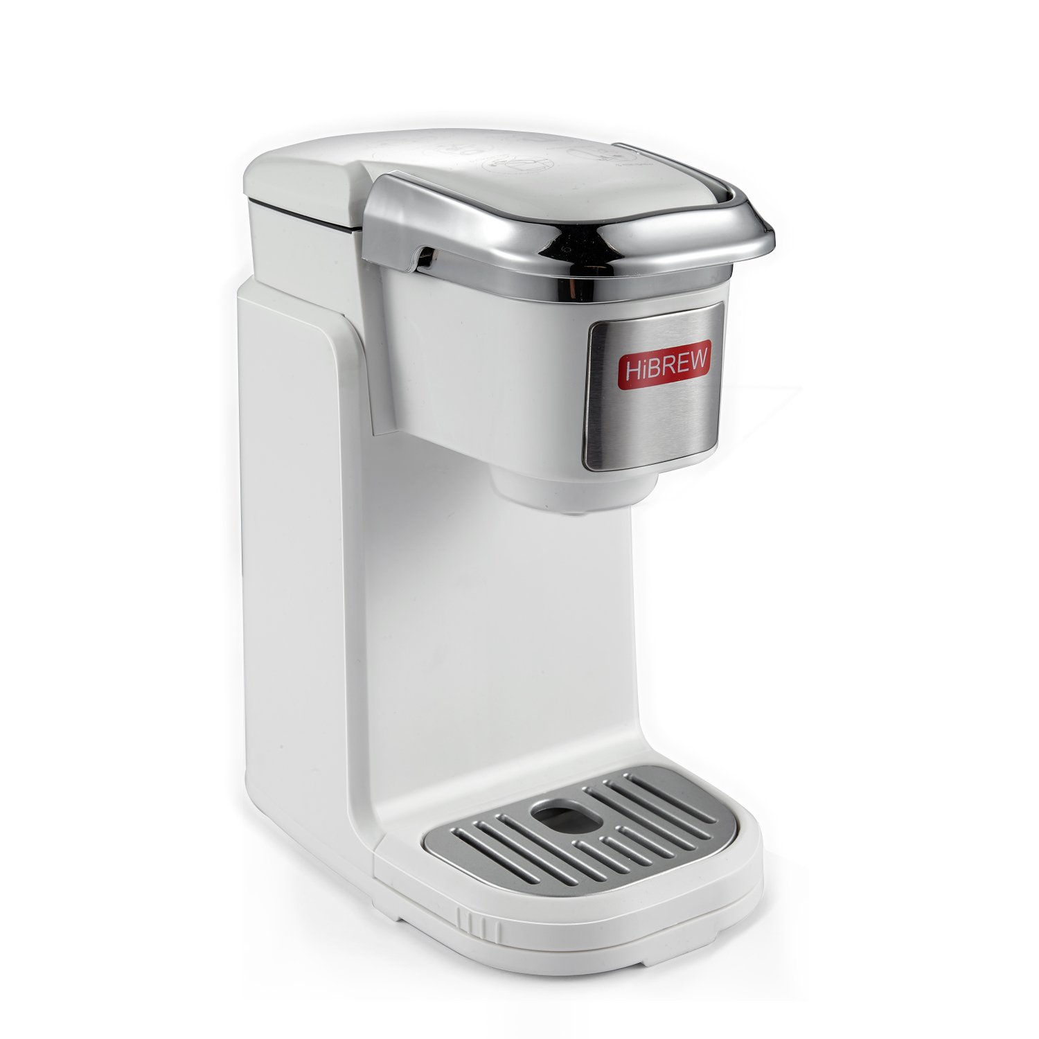 HiBREW Single Serve White Compact Portable Travel Size K Cup Coffee Maker Brewing System Coffee Machine for Office, Travel Camping and for Hotel Dorm Hospitality by HIBREW