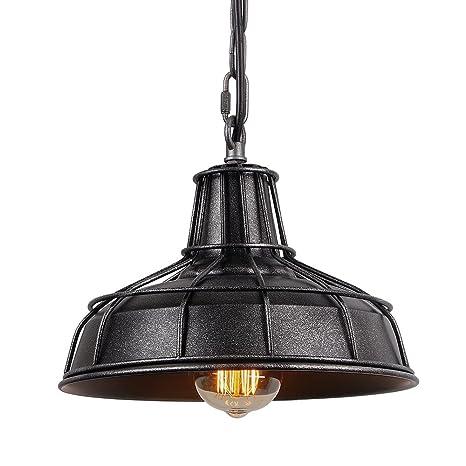 Amazon.com: Anmytek Black Silver Wire Pot Cover Pendant Light ...