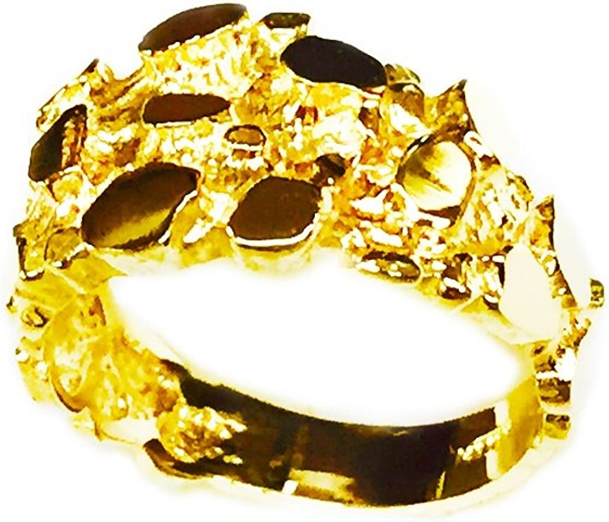 14Kt Yellow Gold Nugget Design Fashion Ring 5 Grams