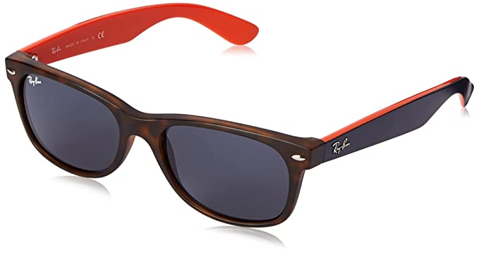 7a7f2cad8 Ray-Ban Unisex-Adults New Wayfarer Sunglasses, (Tortoise and Red ...