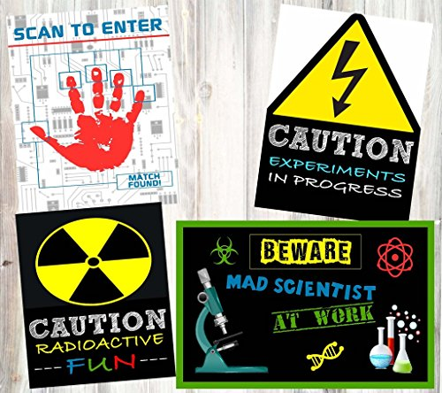 Mad Scientist Science Party Supply Decorations Invites Favors (Poster Decor)