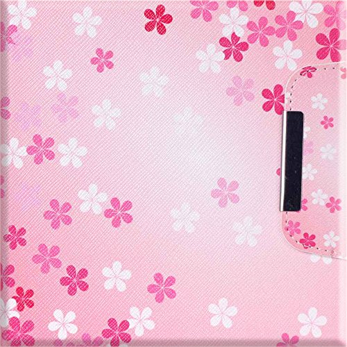 iPad Air Case, iPad Air Case 1st Generation, Dteck(TM) Slim Fit Smart Leather Case [Illustration Painting Design] Flip Stand Case Cover for iPad Air with Auto Sleep/Wake Function-Pink Flower by Dteck (Image #1)