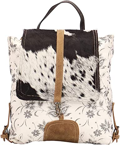 Amazon Com Myra Bag Bloom Bleach Upcycled Canvas Cowhide Backpack S 1504 Clothing Product titlemen backpack chest bag pack messenger sling shoulder. myra bag bloom bleach upcycled canvas cowhide backpack s 1504
