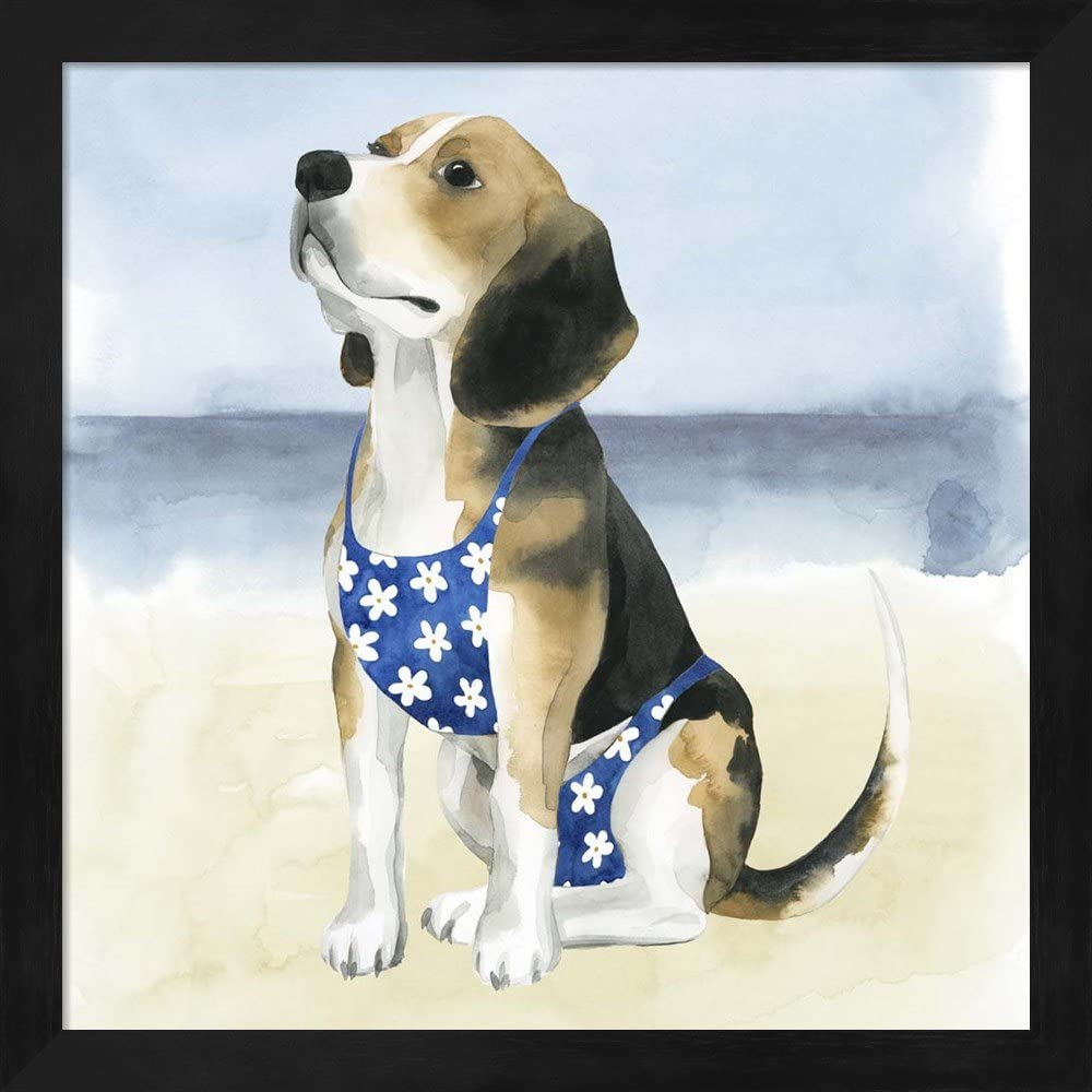 Hot Dog By Grace Popp 2 Piece Black Framed Art Set 13 X 13 Inches Each Animal Art Posters Prints