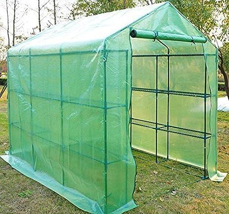 HOMCOM - Invernadero caseta 244 x 182 x 213 cm Jardin terraza Cultivo Plantas y Flores: Amazon.es: Hogar