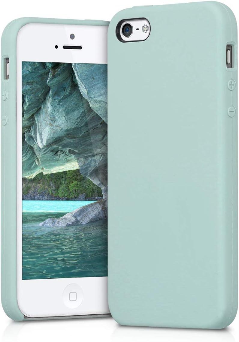 Carcasa de TPU para m/óvil Cover Trasero en Magenta Oscuro kwmobile Funda Compatible con Apple iPhone SE 1.Gen 2016 // 5 // 5S