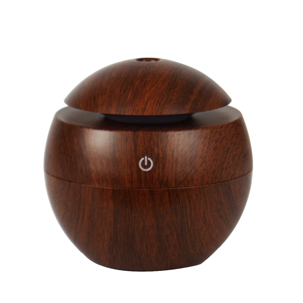Fabal USB Wood Grain Aromatherapy Humidifier Office Desktop Mmini Perfume Machine Ultrasonic (Brown)
