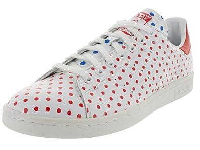 Adidas Originals Pharrell Stan Smith Polka Dot Mens Tennis Shoes B25401  Future White Red-Bluebird