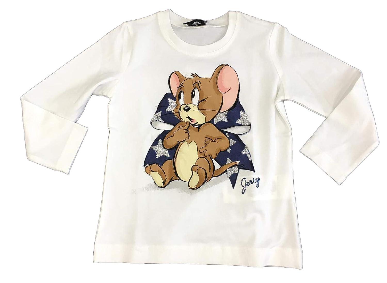 MONNALISA Jerry Bambina 194641PW Panna T-Shirt Inverno