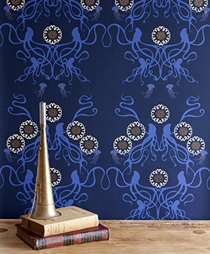 Captain Smith hand-printed wallpaper by Grow House Grow