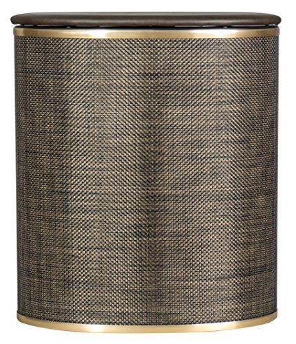 Redmon 2331 Bowed Front Hamper, Espresso/Gold (Hamper Espresso Laundry)