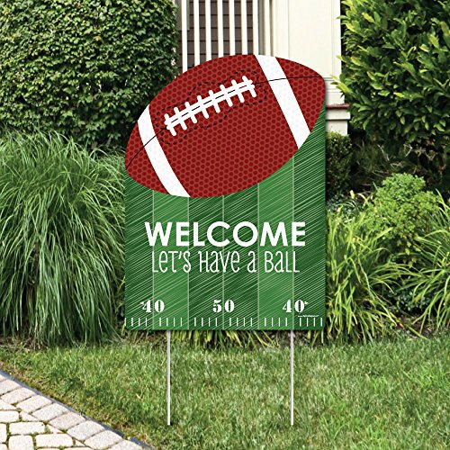 Big Dot of Happiness End Zone - Football - Party Decorations - Birthday Party or Baby Shower Welcome Yard Sign