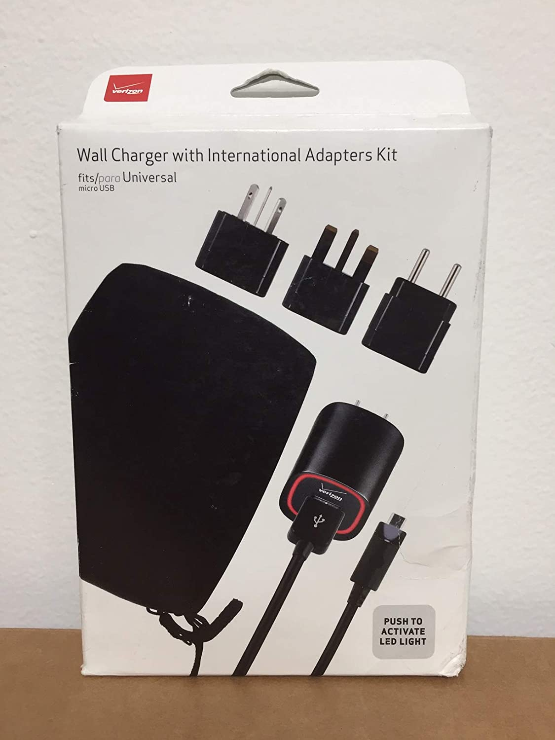Verizon International Micro USB Travel Charger Kit EURO Charger UK Charger US Charger