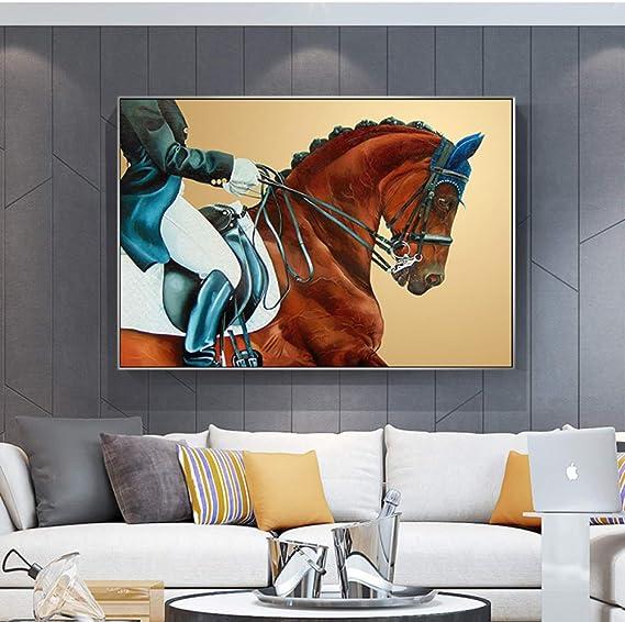 NIMCG Obra de Arte Lienzo Pintura Abstracta pez Lienzo Pintura océano mar Azul decoración del hogar Arte de la Pared Imagen para Sala póster y reproducción de impresión (sin Marco) A5 60x90CM: