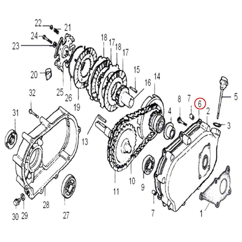 Ersatzteil f/ür /Ölbadkupplung Benzinmotoren mit 6,5 PS Dichtung Kupplungsgeh/äuse