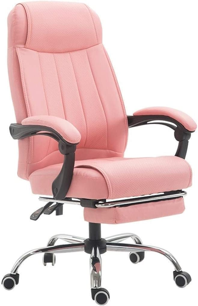 Amazon Com Gybgy Modern Home Office Chair Vegan Leather Upholstered Executive Conference Stylish Design Adjustable Mid Back Ergonomic Desk Chair Home Kitchen
