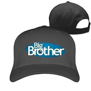 Adult Big Brother Big Eye Cotton Adjustable Peaked Baseball Cap Black