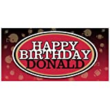NFL Football Party Red And Black Personalized Birthday Banner Decoration