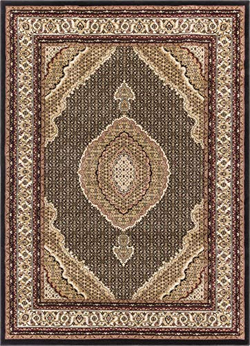 Well Woven 36633 Timeless Saffron Traditional Persian Medallion Black Area Rug 2'3