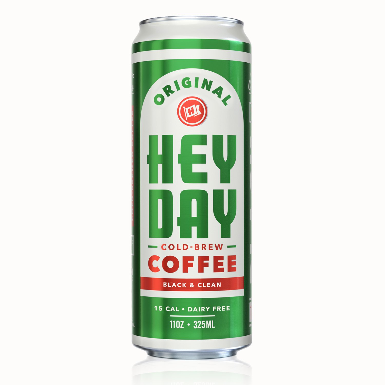 HEYDAY | Cold-Brew Coffee | Fair Trade Certified | Non-GMO | Black | 11oz (12 Count)