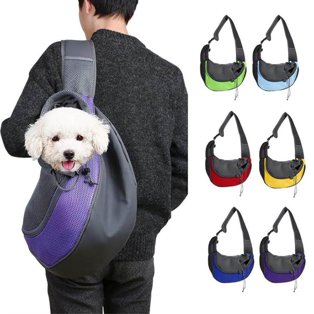erholi Pet Cats Dog Sling Travel Bag Carrier Outdoor Hiking Soft-Sided Carriers by erholi