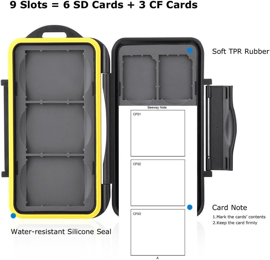 12 MicroSD 24 Steckpl/ätze = 12SD Beeway SD Card Holder Memory Card Case 24 Slots = 12 SD 12MicroSD