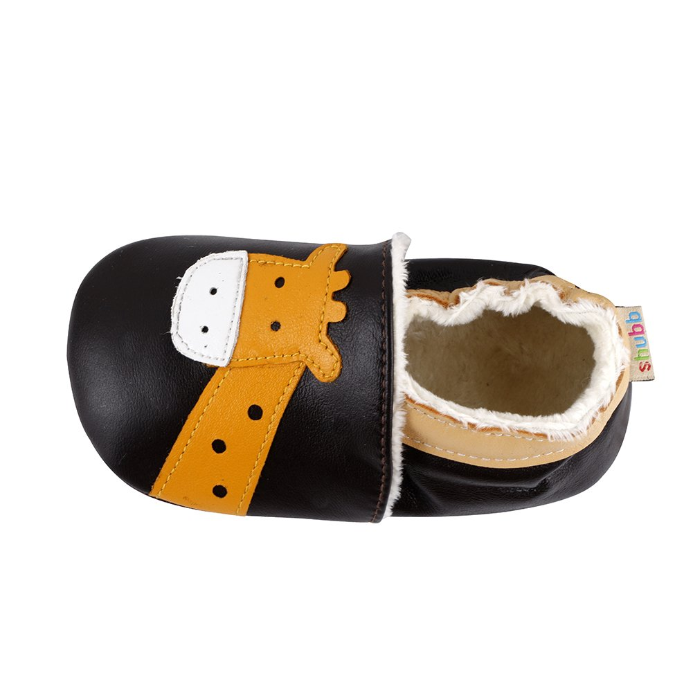 JINZFJG-SX Skid-Proof Baby Toddler Shoes Soft Genuine Leather Baby Boys Girls Infant Shoes Thicken Plush First Walkers