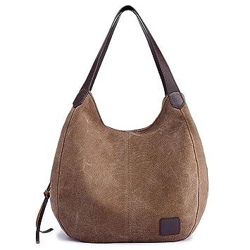 Handtasche Shopper Beutel Canvas Schultertaschebraun Bestou Multi Damen Handtaschen Tasche Groß vmn8Nw0O