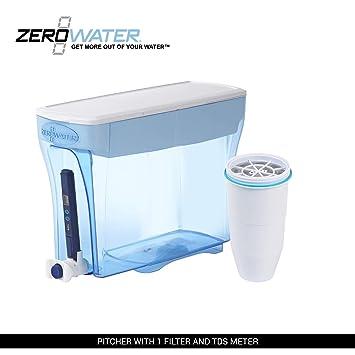 ZeroWater ZD-018 - Dispensador DE 23 Tazas con medidor TDS (Total disuelto): Amazon.es: Hogar