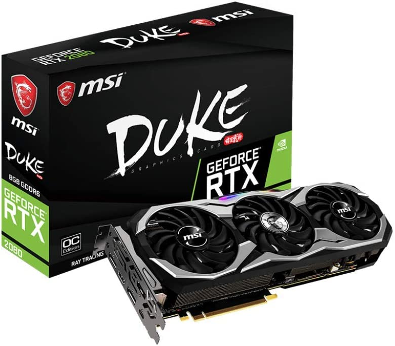 MSI Gaming GeForce RTX 2080 8GB GDRR6 256-bit VR Ready Graphics Card (RTX 2080 DUKE 8G OC)